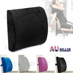 Lumbar-Back-Support-Cushion-Pillow-Memory-Foam-Waist-Home-Office-Car-Seat-Chair