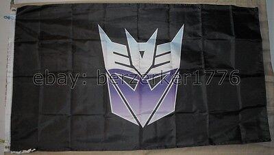 All hail megatron Decepticons Transformers 3/'x5/' Drapeau 2 USA vendeur Chargeur