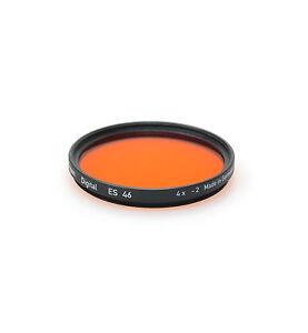 Heliopan 49 mm naranja 22 Filtro nuevo Stock