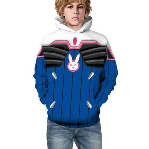 Kids 3D Print Hoodie Coat Boys Girls Superhero Sweatshirt Pullover Jumper 4-13Y
