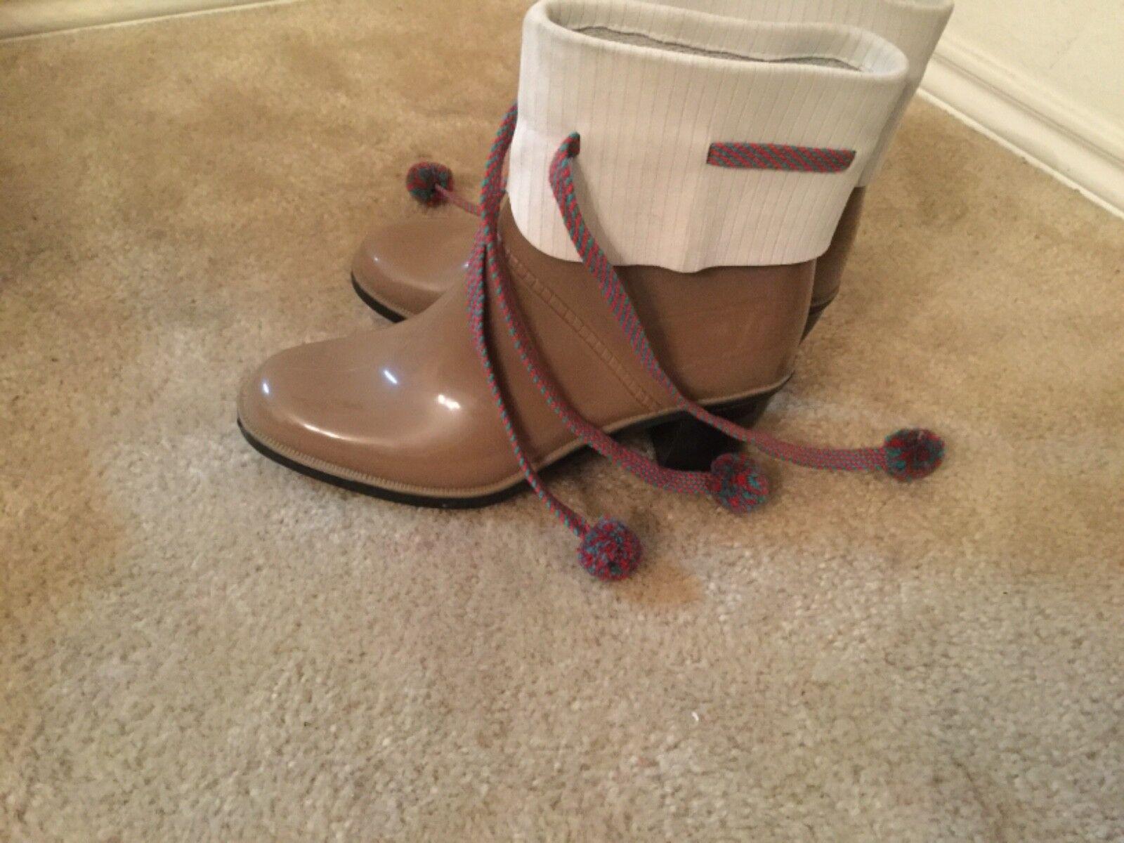 Marc Jacobs Multicolor Heel ankle Rubber Rain Boots size 7 / 38