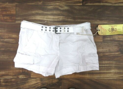 NEW Da Nang Women/'s Summer Shorts Belted Front Pockets WHITE HPG5390 SMALL S