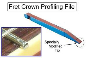 FRET CROWNING FILE Sanding Stick for Guitar 2 Bass Luthier Tool