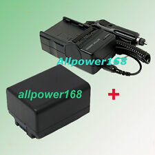 Battery + Charger For Canon BP-718 BP718 709 Camcorder Rechargeable Lithium-ion