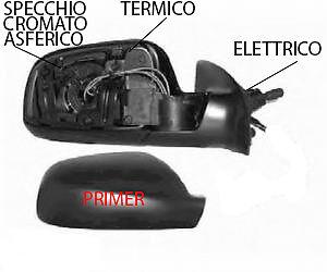SPECCHIO SPECCHIETTO RETROVISORE SX PEUGEOT 307 2001 2008 ELETT PRIMER TERMICO