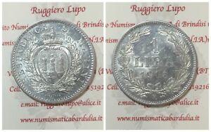 San-Marino-Ancienne-Pieces-de-Monnaie-1-Lyre-1906-Avis-D-Expert-Rares-Q-FDC