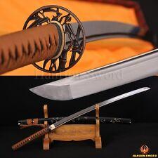 Hand Carved Samurai Japanese Katana Bamboo Sword Damascus Steel Blade Very Sharp