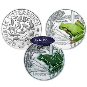 Piece-3-euros-commemorative-AUTRICHE-2018-La-Grenouille-Piece-phosphorescente