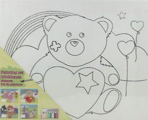81142-2-Malvorlage-Teddybaer-mit-Acrylfarben