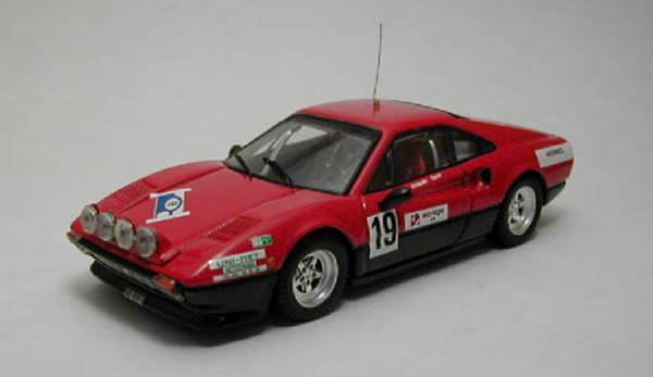 FERRARI 308 GTB  19 Rally St Cergue 1982 C. Jaquillard 1:43 Model Best MODELS