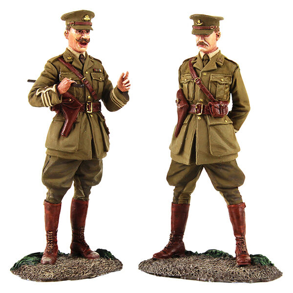 W Britain 23098  The Conference  - British Major and Lieutenant Meeting, 1915-18