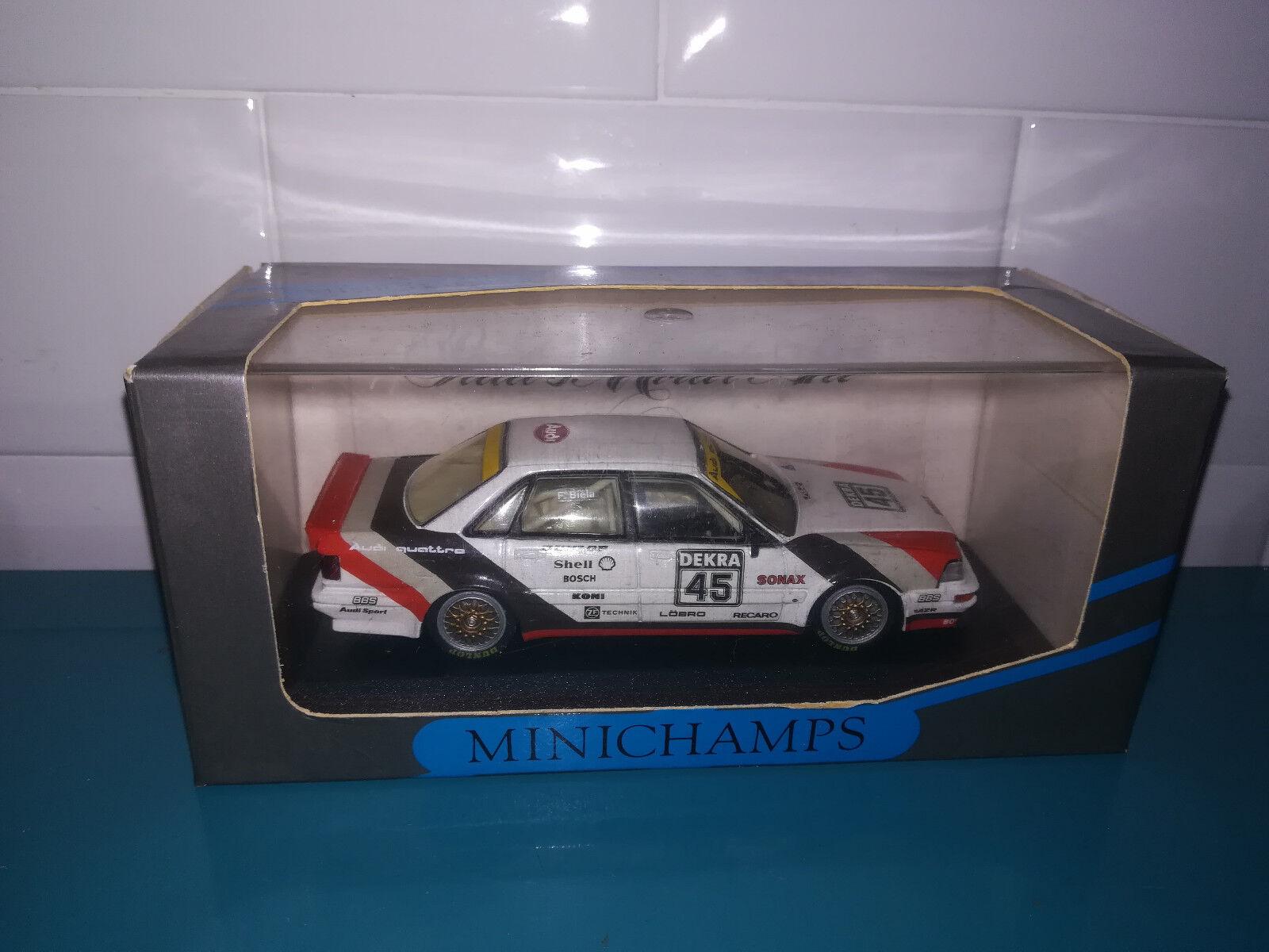 2.12.18.1 Audi V8 quattro evo team AZR biela n°45 Minichamps 1 43
