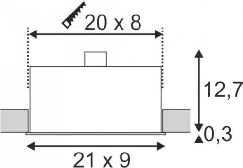 max weiß matt SLV KADUX 3 Einbauleuchte 150W QPAR51 rechteckig