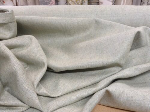French So Soft Silk /& Linen Mist Green blue Curtain//Craft upholstery Fabric