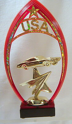 1 RED OR GOLD  MOTORCYCLE TROPHY MOTORCYCLE  PARTS TROPHY MOTORCYCLE  SHOW #AB61