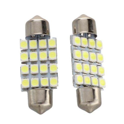 2 KFZ Lampe Soffitte Innen 36mm 16 SMD LED Weiss Sofitte