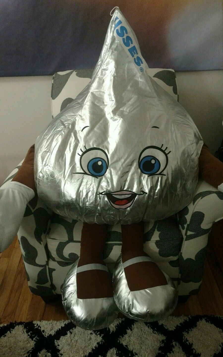 4ft HUGE HERSHEY KISS GIRL PLUSH STUFFED ANIMAL DOLL PARK GIANT BIG