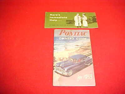 PONTIAC 1953 Owner/'s Manual 53