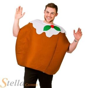 Adult Christmas Pudding Xmas Fancy Dress Costume Mens Ladies Festive Outfit
