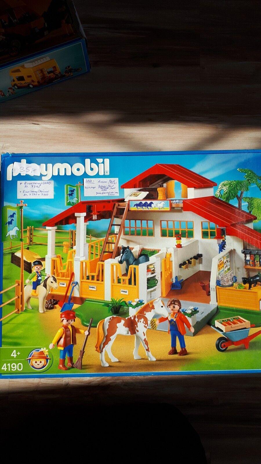 Playmobil in OVP Reiterhof Wohnmobil Küche Badezimmer und vieles mehr