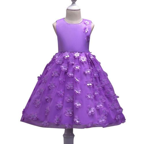 Blumenmädchen Kleid Kinder Blütenblätter Geburtstag Prinzessin Partykleider