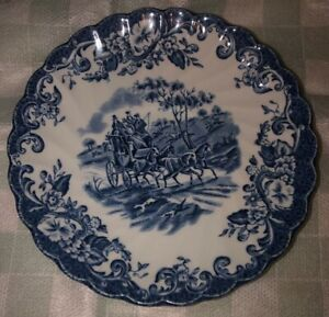 Vintage Johnson Brothers Fine China~ Coaching Scenes~Hunting Country~ Cup /& Saucer Set~ Vintage Johnson Brothers~  Vintage Blue Transferware