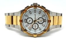 Omax  Men's All Stainless Steel Tone Two Watch White Chrono Dial waterproof