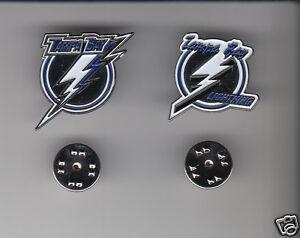 TAMPA-BAY-LIGHTNING-Lot-of-2-Different-METAL-LAPEL-PINS-NHL-Hockey-Team-Logo-Pin