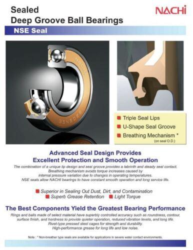 6003-2NSE C3 NACHI Ball Bearing EMQ 17x35x10mm 6003-2RS 6003 RS Qty-1