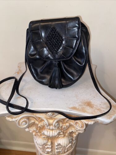 Barbara Bolan For Bolan Too Black Leather Tassel B