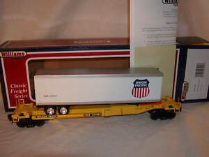 Williams-Bachmann-48401-Flat-Car-Front-Runner-w-Trailer-Union-Pacific-O-MIB-New
