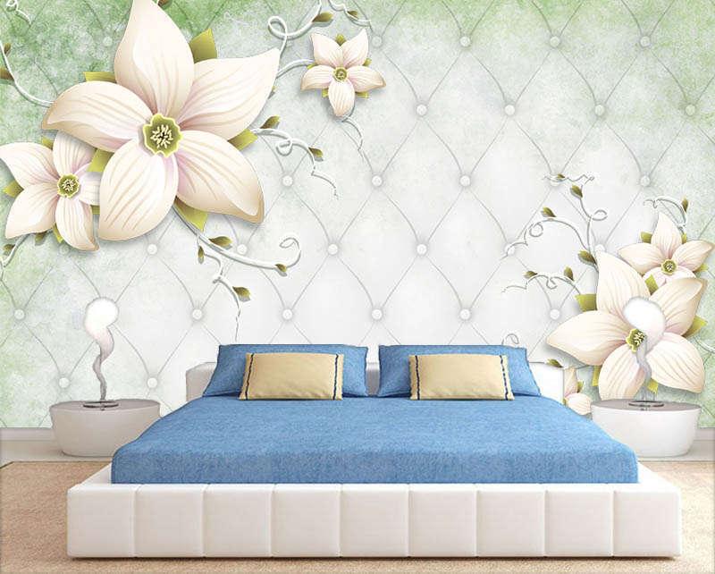 Superb Bright Lotus 3D Full Wall Mural Photo Wallpaper Printing Home Kids Decor