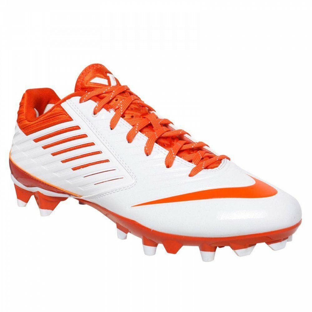Neu Nike Vapor Speed Speed Speed Lax Lacrosse Stollen Schuhe Weiß Orange Größe 12, M  | Vorzüglich  4ce64a