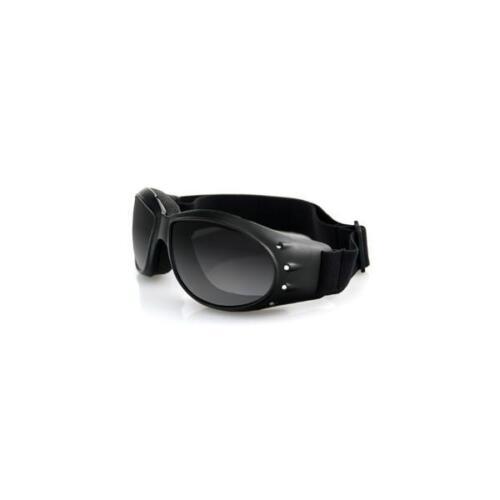 Bobster Sunglasses Motorcycle Cruiser Goggles - Black Frame, Smoked Lens BCA001