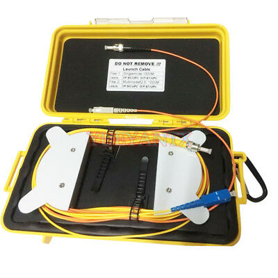 Optical Mini FC UPC SM 9//125um 1310//1550nm 1KM Bare Fiber OTDR Launch Cable Box