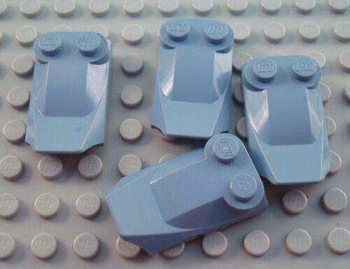LEGO Lot of 4 Sand Blue 3x2 Lip End Car Vehicle Engine Bricks