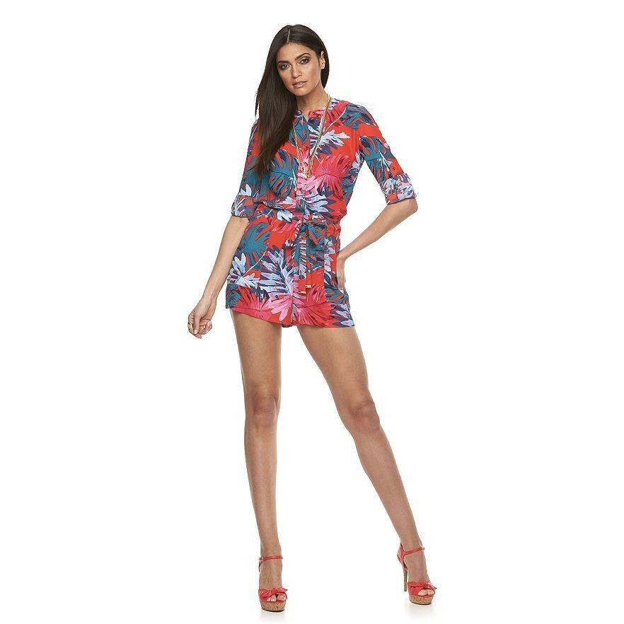 4f42f12be13f New Women's Jennifer Roll-Tab Romper Size 16 Lopez Crepe nnpjmu8751 ...