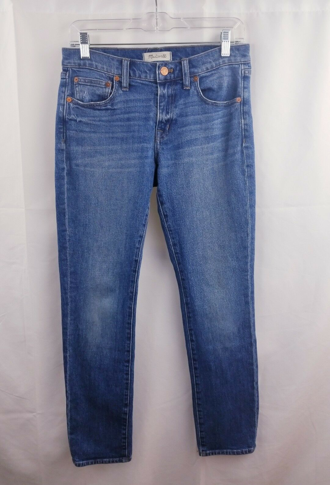 Madewell the slim boyfriend size 25 women jeans medium wash size 25 distressed