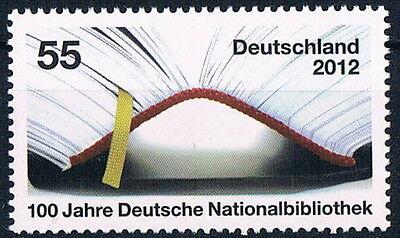 FäHig 2956 ** Brd 2012, 100 J. Deutsche Nationalbibliothek Festsetzung Der Preise Nach ProduktqualitäT