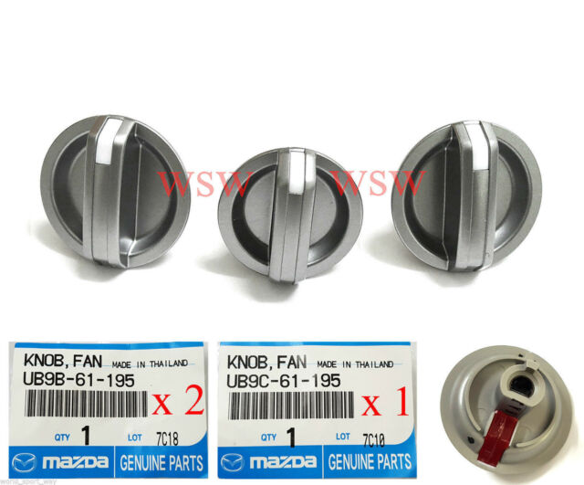 3x Genuine For Ford PJ PK Ranger Heater Fan Control Knobs BT-50 Mazda 2005-2011