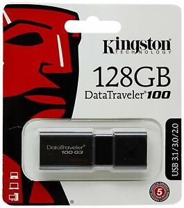 PEN-DRIVE-Kingston-DT100G3-128-GB-DataTraveler-100-G3-USB-3-0-3-1-128GB
