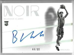 Brandon-Clarke-RC-2019-20-Panini-Noir-Rookie-Shadow-Signatures-Auto-44-99