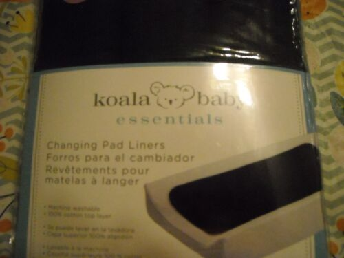Koala Baby Navy Blue Changing Pad Liners Package of 3 NIB