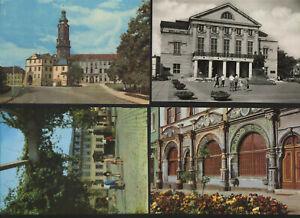 4-alte-AK-Weimar-Schloss-Goethehaus-Goethe-Cranach-Haus-Natinaltheater-Theater