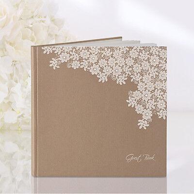 """Gästebuch Vintage """"Flowers""""-Hochzeit, Gäste, Buch, Hochzeitsbuch"""