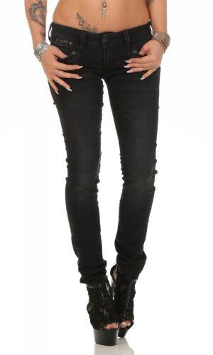 NEU DB840//671 HERRLICHER Röhre // Damen Jeans Hose PIPER Slim Black