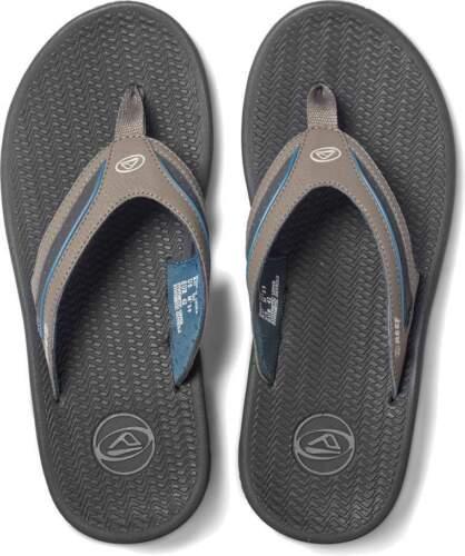 Dark Grey//Blue Reef Flex Men/'s Flip Flops