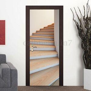 Image Is Loading 3D Stairs Door Murals Fridge Wall Sticker Decoration