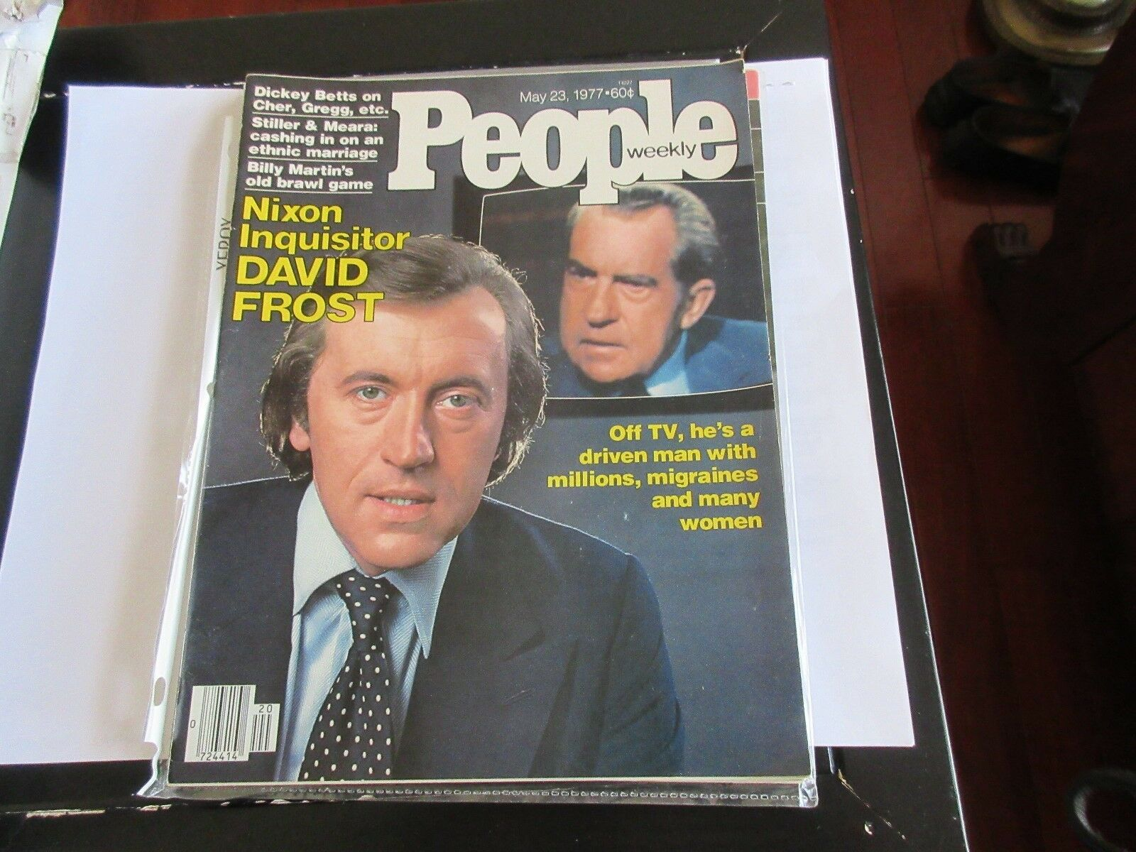 Nixon Inquisitor David Frost , People Magazine , 5/23/7