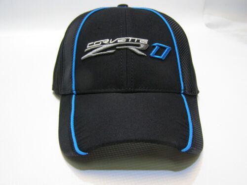 carbon fiber accent black and blue embroidered logo Men/'s ZR1 Corvette hat cap